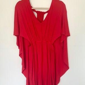 James & Joy Drape Sleeve Red Mini Dress Size XS